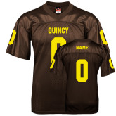 Replica Brown Adult Football Jersey-Personalized