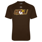 Under Armour Brown Tech Tee-QU Hawk Head