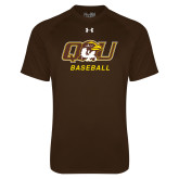 Under Armour Brown Tech Tee-Baseball