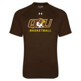 Under Armour Brown Tech Tee-Basketball
