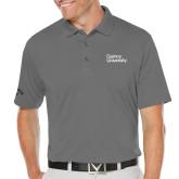 Callaway Opti Dri Steel Grey Chev Polo-Wordmark