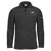 Columbia Full Zip Charcoal Fleece Jacket-QU Hawk Head