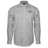 Red House Grey Plaid Long Sleeve Shirt-QU Hawk Head