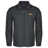 Full Zip Charcoal Wind Jacket-QU Hawk Head