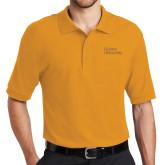Gold Easycare Pique Polo-Wordmark