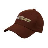 Brown Heavyweight Twill Pro Style Hat-Hawks w/ Hawk Head