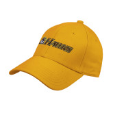 Gold Heavyweight Twill Pro Style Hat-Hawks w/ Hawk Head