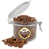 Almond Bliss Round Canister-QU Hawk Head