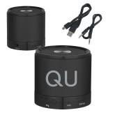 Wireless HD Bluetooth Black Round Speaker-QU  Engraved