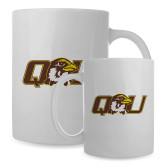 Full Color White Mug 15oz-QU Hawk Head