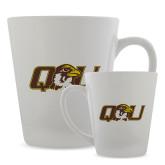 Full Color Latte Mug 12oz-QU Hawk Head