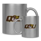 Full Color Silver Metallic Mug 11oz-QU Hawk Head