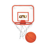 Mini Basketball & Hoop Set-QU Hawk Head