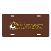 License Plate-Hawks w/ Hawk Head