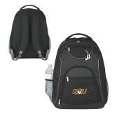 The Ultimate Black Computer Backpack-QU Hawk Head