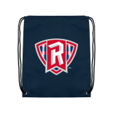 Navy Drawstring Backpack-R in Shield