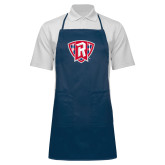 Full Length Navy Apron-R in Shield