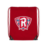 Red Drawstring Backpack-R in Shield
