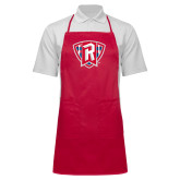 Full Length Red Apron-R in Shield