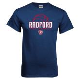 Navy T Shirt-Volleyball Design