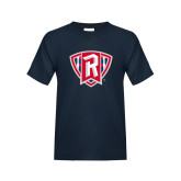 Youth Navy T Shirt-R in Shield