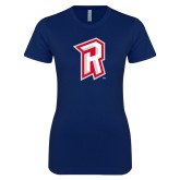 Next Level Ladies SoftStyle Junior Fitted Navy Tee-R Mark