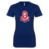 Next Level Ladies SoftStyle Junior Fitted Navy Tee-Highlander