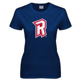 Ladies Navy T Shirt-R Mark