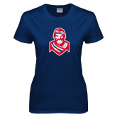 Ladies Navy T Shirt-Highlander
