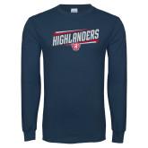 Navy Long Sleeve T Shirt-Highlander Design