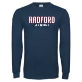 Navy Long Sleeve T Shirt-Alumni