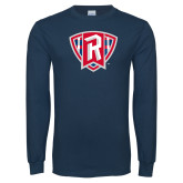 Navy Long Sleeve T Shirt-R in Shield