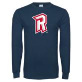Navy Long Sleeve T Shirt-R Mark