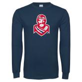 Navy Long Sleeve T Shirt-Highlander