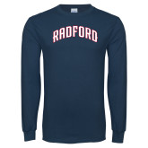 Navy Long Sleeve T Shirt-Arched Radford