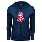 ENZA Ladies Navy Fleece Full Zip Hoodie-Highlander
