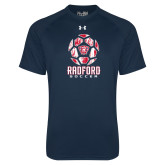 Under Armour Navy Tech Tee-Soccer Design