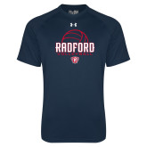 Under Armour Navy Tech Tee-Volleyball Design