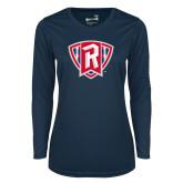 Ladies Syntrel Performance Navy Longsleeve Shirt-R in Shield