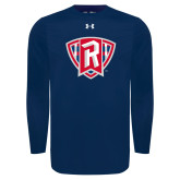 Under Armour Navy Long Sleeve Tech Tee-R in Shield