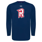 Under Armour Navy Long Sleeve Tech Tee-R Mark