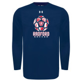Under Armour Navy Long Sleeve Tech Tee-Soccer Design