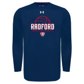 Under Armour Navy Long Sleeve Tech Tee-Volleyball Design