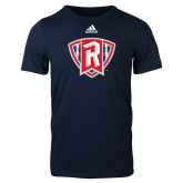 Adidas Navy Logo T Shirt-R in Shield