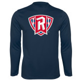 Performance Navy Longsleeve Shirt-R in Shield