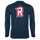 Performance Navy Longsleeve Shirt-R Mark