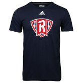 Adidas Climalite Navy Ultimate Performance Tee-R in Shield
