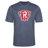 Performance Navy Heather Contender Tee-R in Shield