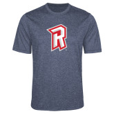 Performance Navy Heather Contender Tee-R Mark
