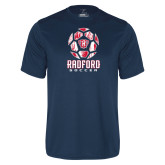 Performance Navy Tee-Soccer Design